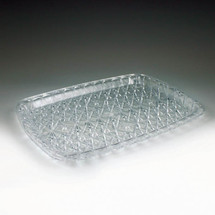 Crystal Cut Rectangular Tray