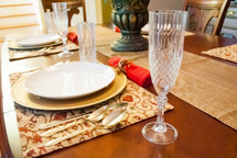 Crystal Effect Champagne Flutes