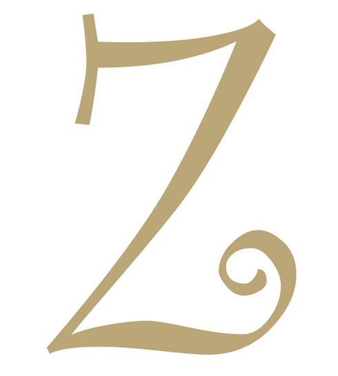 Wood letter, natural, mdf, letter Z, can be painted, put in wreaths, hung on christmas trees, walls, curly letter