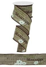 Mississippi  2 1/2 inch Ribbon