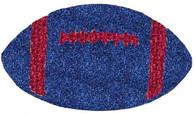 """11"""" Navy Blue W/Red Football"""