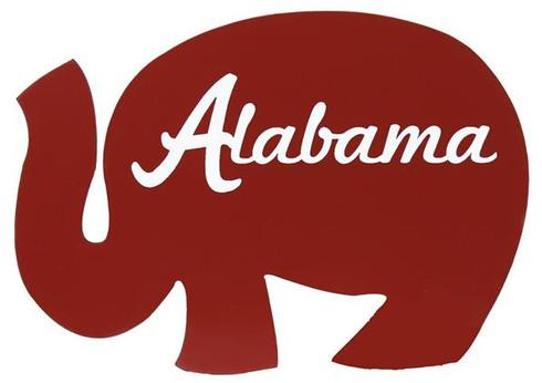"11""L Elephant W""Alabama"" Print-Crimson"