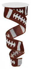 "1.5"" X 10 YD Football Laces Ribbon"