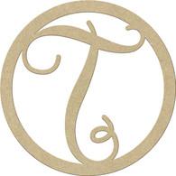 "23"" Circle Letter T"
