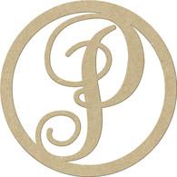"""23"""" Circle Letter P"""