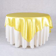 60 x 60 Satin Table Overlays-Daffodil