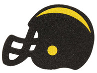 "5""L x 4.5""W Glitter Football Helmet-Black/Yellow"