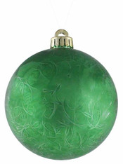 120MM Feather Smooth Ball Ornament-Green