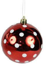 100 MM Polka Dot V.P. Ball Ornament