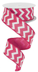 Small Chevron Royal-Hot Pink/White