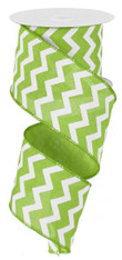 "2.5""X10YD Small Chevron/Royal - Lime Green/White"