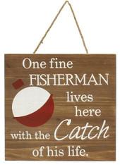 "11""SQ Wood Fine Fisherman - Red/White/Brown"
