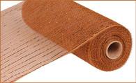 """10""""X10YD Metallic Mesh - Brown W/Copper Foil"""