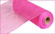 "10""X10YD Metallic Mesh - Hot Pink W/Hot Pink Foil"
