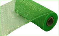 "10""X10YD Metallic Value Mesh - Lime W/Lime Foil"