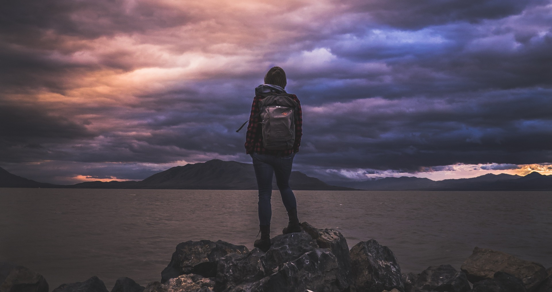 Photo of hiker with backpack