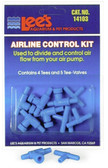 Airline Control Kit 4 Tees & 5 Two-Way Valves 2pk