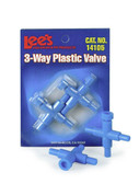 Three-Way Plastic Valve 2pk
