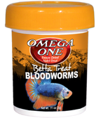 Omega One Betta Treat Freeze Dried Bloodworms 0.11 oz