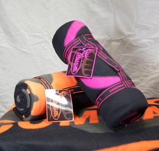 Pink and Black Buck Commander Fleece Blanket