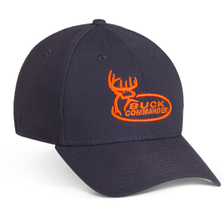 Charcoal and Orange Buck Commander Logo Hat