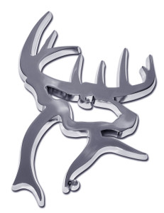 Buck Commander Buck Head Chrome Auto Emblem