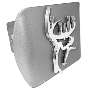 Buck Commander Chrome Buck on Brushed Hitch Cover