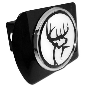 Buck Commander Black and White Logo on Black Hitch Cover