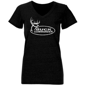 Women's Weathered Logo V-Neck T-Shirt