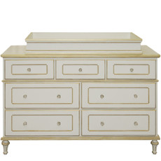 Princess 7 Drawer Dresser w/Gold