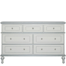 Princess 7 Drawer Dresser w/Silver