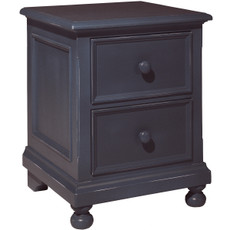 William 2 Drawer Blue Nightstand