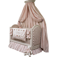 Princess Tufted Crib w/Crown