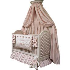 Princess Tufted Crib w/Crown