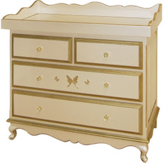 Belle Paris 4 Drawer Dresser - Gold
