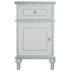 Princess Nightstand w/Silver Trim
