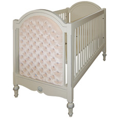 Princess Tufted Crib w/Crystals