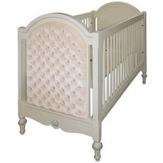 Princess Tufted Crib w/Crystals