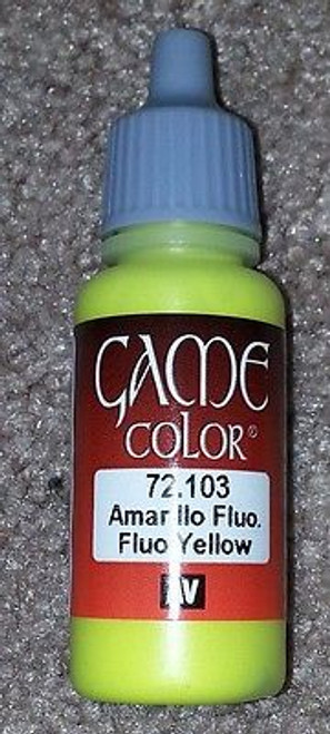 Vallejo Paint Game Color Fluo. Yellow 72103 Eye Dropper Bottle 17ml