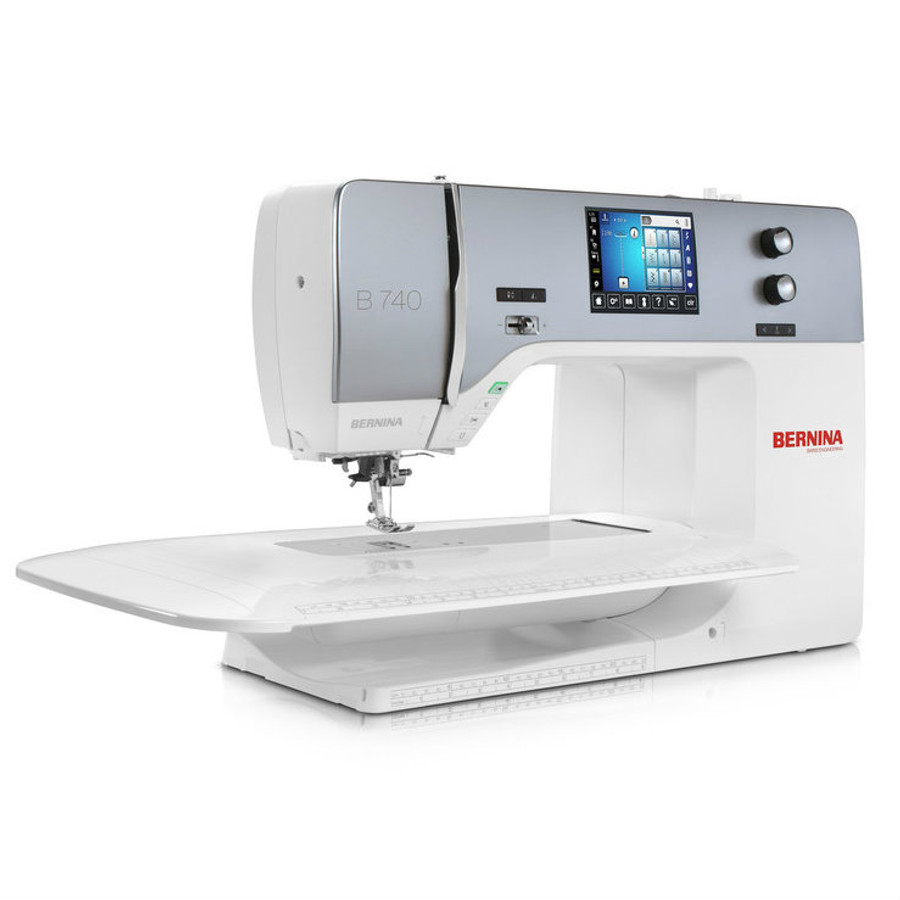 Bernina 740 sewing machine with free arm table extension
