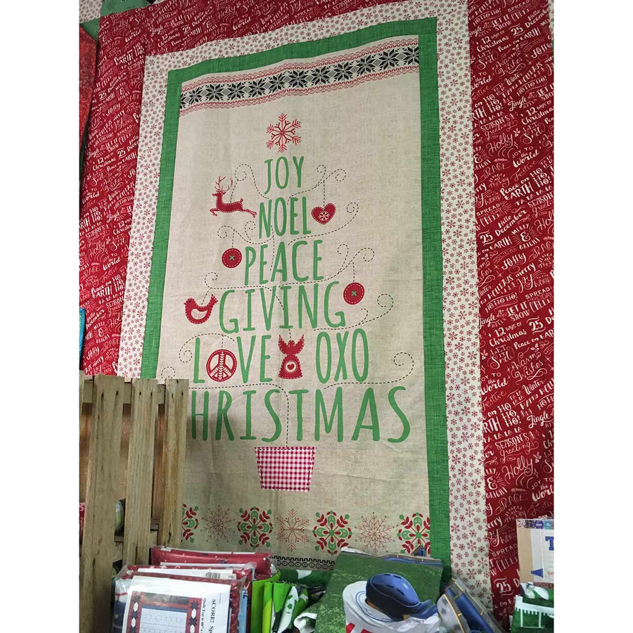 Joy Noel Christmas Quilt Sample