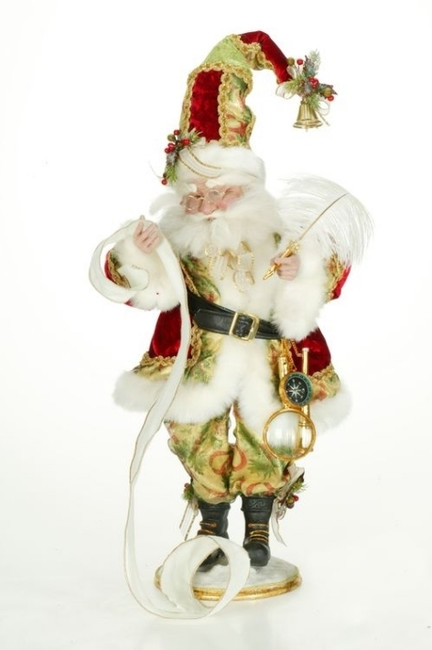 "Limited Edition Mark Roberts 23"" Checkin It Twice Santa 51-82058"