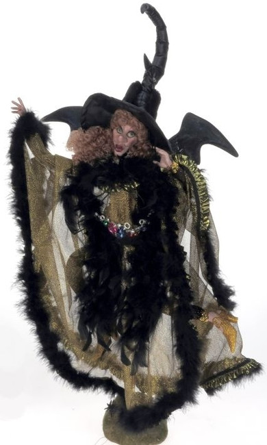 Limited Edition Mark Roberts Large Eerie Golden Night Witch L 51-41302