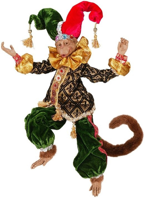 Limited Edition Mark Roberts Large Gala Jester Monkey 51-36904