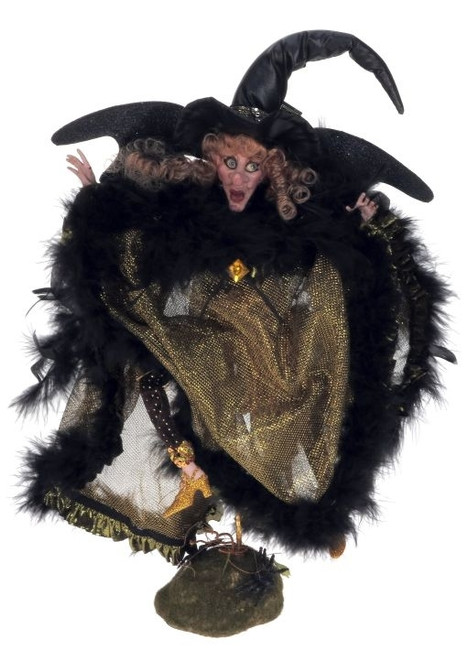 Limited Edition Mark Roberts Small Eerie Golden Night Witch 51-41300