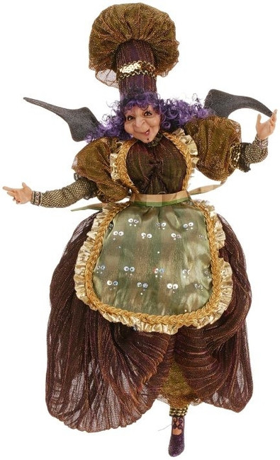 Limited Edition Mark Roberts Small Kitchen Witch 51-27512-GRN