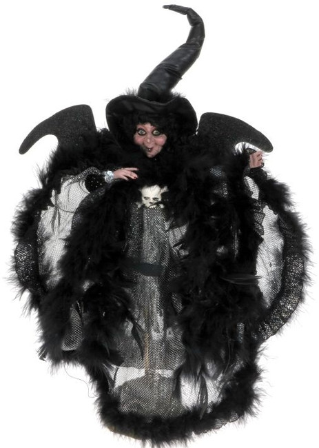 Limited Edition Mark Roberts Small Eerie Silver Night Witch 51-41308