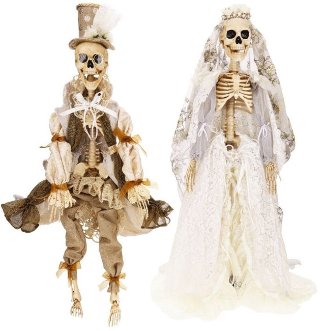 "Limited Edition Mark Roberts 31"" Dearly Departed Bride Skeleton 51-52860-B"