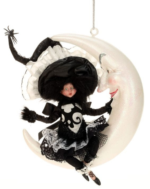 "Limited Edition Mark Roberts 14"" Little Girl Witch on Moon 51-41330"