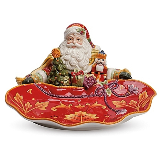 NIB Fitz and Floyd Regal Holiday Santa Server 49-275